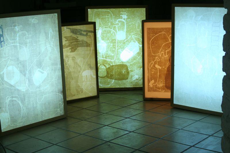 """Installation """"Leuchtkästen"""", 2009"""
